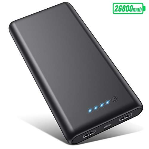 Vooe Power Bank 26800mahhohe Effizienz Ultrahohe Kapazitat Externer Akku Power Pack Ladegerat Akkupack 3 1a 2 Port Ausgang Powerbank Fur Hand In 2020 Tablet Handy Usb