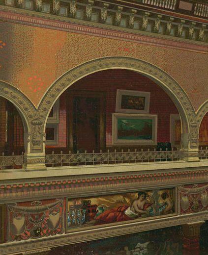 640 Fifth Ave | Atrium Gallery Third Floor inside the William H. Vanderbilt Residence.