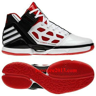 Adidas Derrick Rose 2.0 \u0026quot;Home\u0026quot; White-Red-Black ...