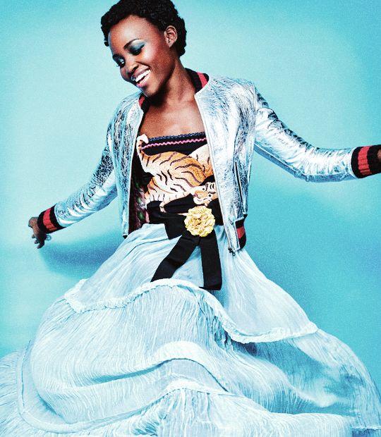 Lupita Nyong'o photographed by Pamela Hanson for Madame Figaro (2015)