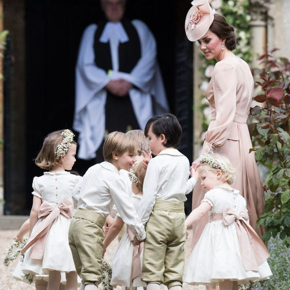 Duchess Kate with Charlotte and George at Pippa Middleton wedding: