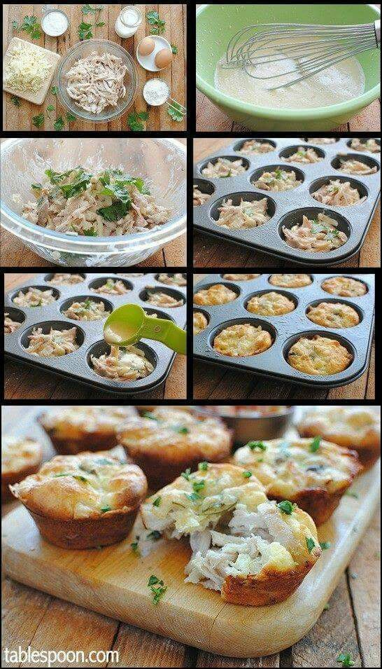 Mini Texmex Chicken and cheese Pies