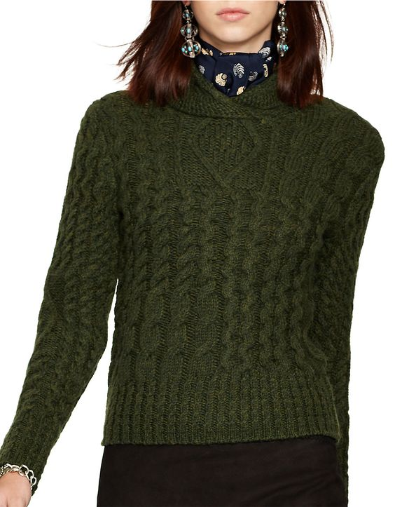 RALPH LAUREN Wool and Alpaca Cable-Knit Sweater