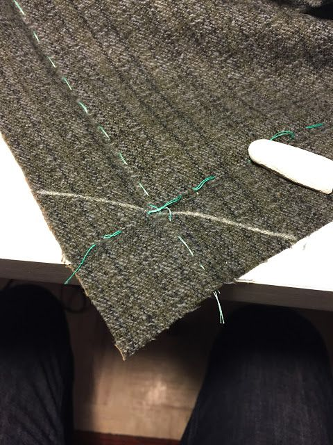 male pattern boldness: Ladies Tailoring: Mitered Corners