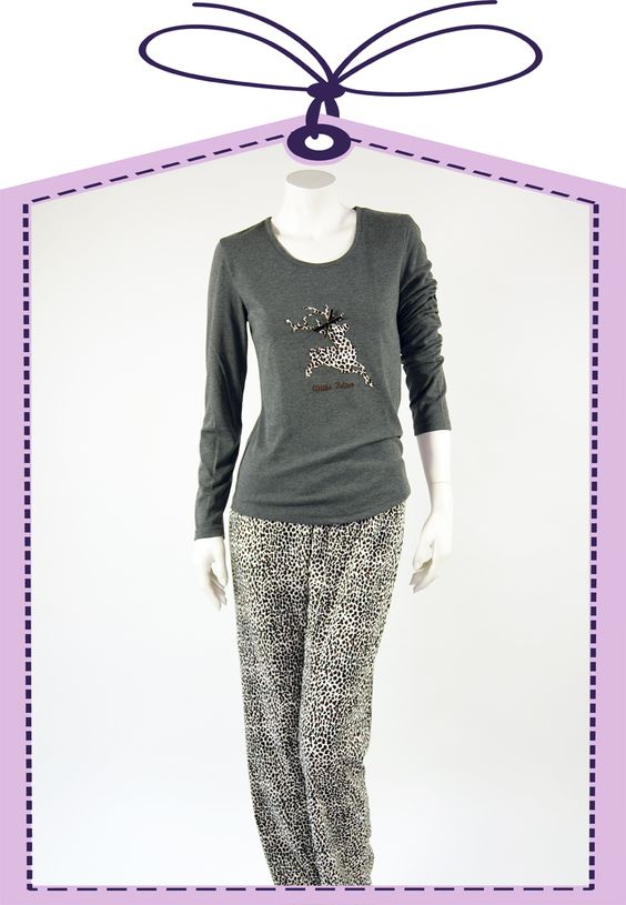 grey deer nightdress by Louis+Louisa online available at www.pyjama-und-co.com