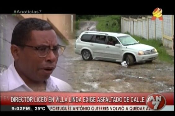 """Director De Un Liceo En Villa Linda Exige Arreglo De Las Calles, Dijo: Que """"Es Una Odisea Llegar A Ese Centro Escolar"""""""