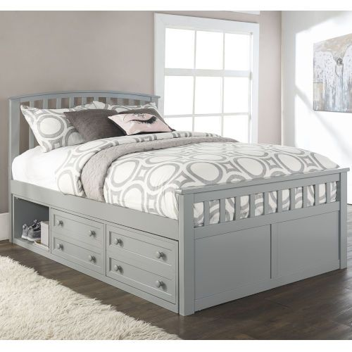 Ne Kids Schoolhouse 4 0 Gray Full Bed With 2 Storage Unit