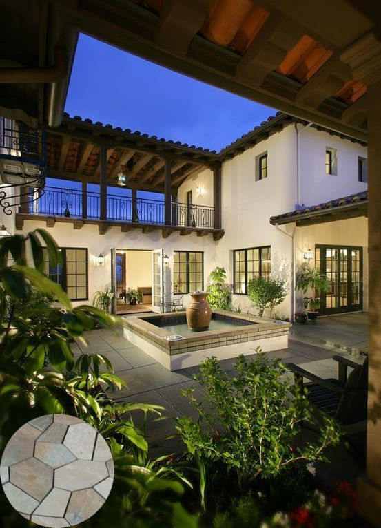 Pin By Sarah Barakat On Spanish Style Homes In 2020 Spanish Style Homes Courtyard House Plans Hacienda Style Homes