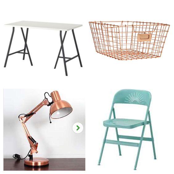 Bradley's desk :D dunelm/ IKEA