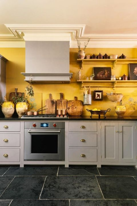 14 Happy Shades Of Yellow You Never Expected To Fall In Love With Yellow Kitchen Decor Yellow Kitchen Walls Yellow Kitchen