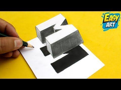 Super Facil How To Draw 3d Letters M Dibujos Faciles Como Dibujar Letras 3d Youtube Dibujando Letras Letras Y Figuras Como Dibujar