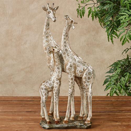 Adoring Giraffes Table Sculpture Giraffe Art Giraffe African Paintings