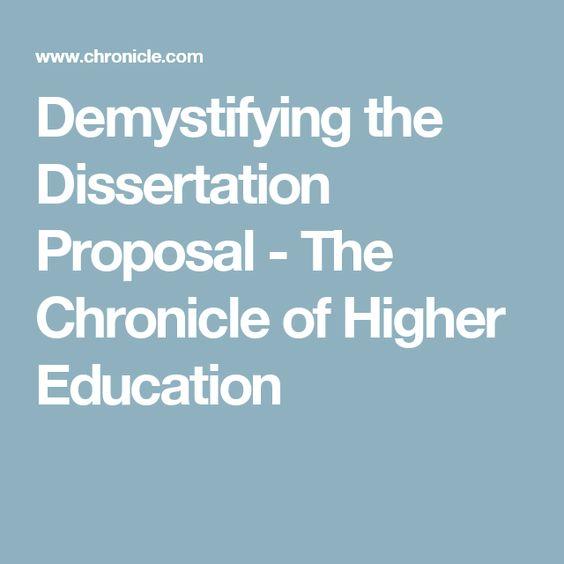 Dissertation Proposal Higher Education