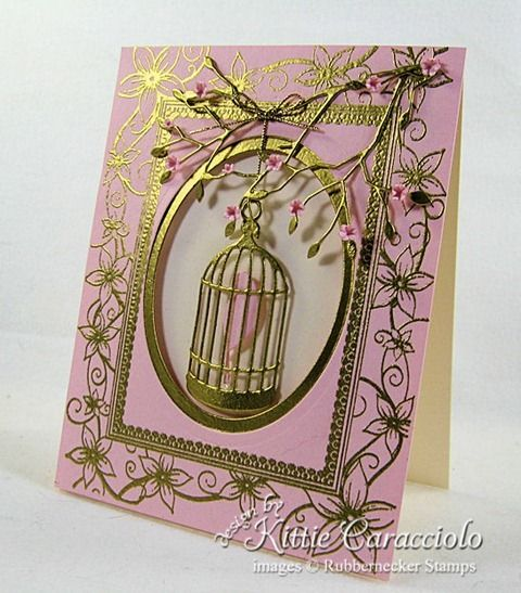 Card Styles / Very clever to emboss the whole die cut, the cage looks amazing