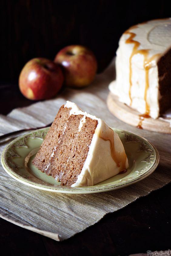 caramel apple cake: