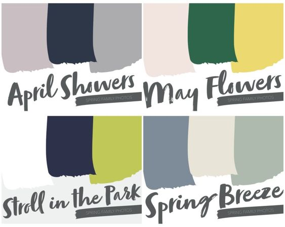 Spring & Summer Family Photos // Color Schemes + Pieces for the Whole Family - Living in Yellow