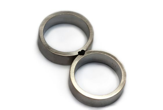 heart rings // conjunto de anillo anillo del corazón amor anillo por CADIjewelry, $350.00