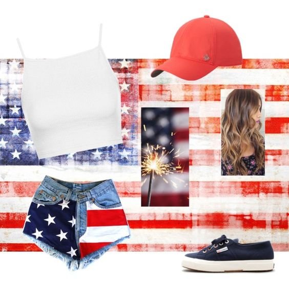 Forth of July by geriksen on Polyvore featuring polyvore, fashion, style, Topshop, Superga and Columbia