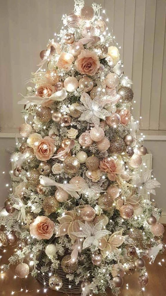 80 Boho Chic Christmas Decor To Keep Your Free Spirited Soul Happy Detectview Elegant Christmas Trees Pink Christmas Decorations Rose Gold Christmas