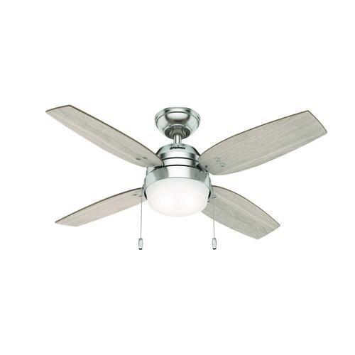 Hunter Haislip 44 Led Brushed Nickel Indoor Ceiling Fan At