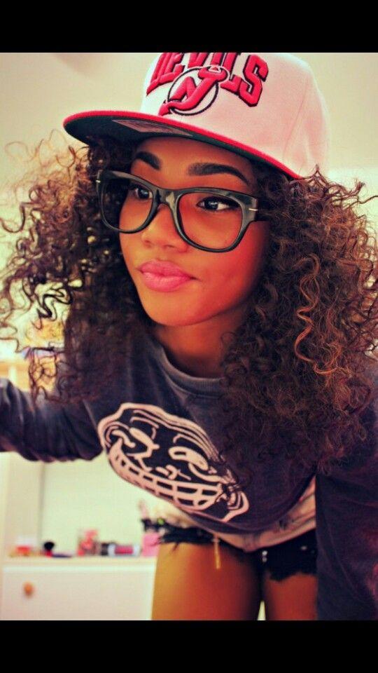 Mixed girl curly hair swag - Mixed girl swag ...