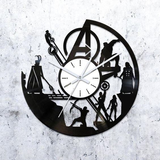 Avengers Wall Art Vinyl Clock Avengers Ornament Wall Clock