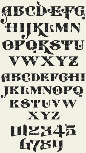Letterhead fonts lhf castlerock vintage font