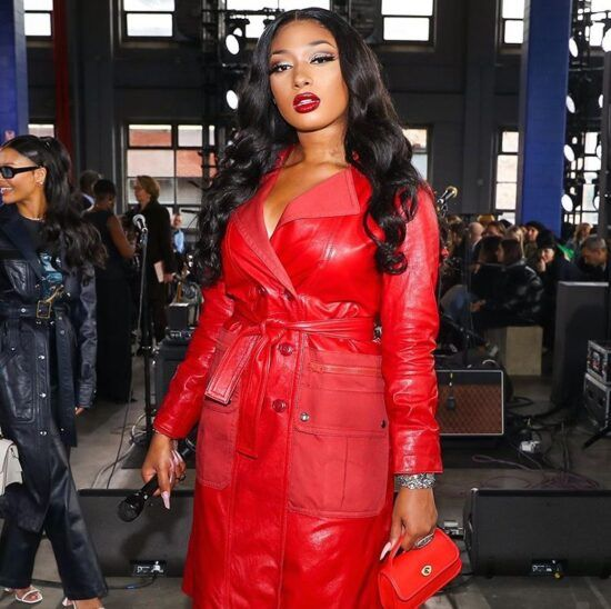 Ask And Tell Coach Leather Trench With Ruching Detail On Megan Thee Stallion 1966 Magazine In 2020 Coach Fashion Fashion Black Girl Fashion