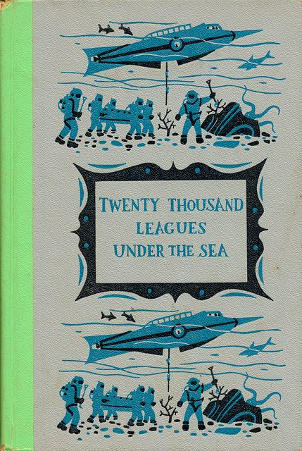 Twenty Thousand Leagues Under the Sea  Written by Jules Verne.  Illustrated by Henry C. Pitz.  Junior Deluxe Editions, 1956.: