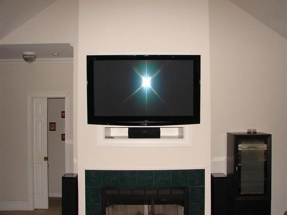 How To Eliminate The Tv Niche Above The Fireplace Home Pinterest Cable Cable Box And Flats