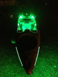 Kayak or Canoe - Green Fishing LED Light Kit --- COMPLETE KIT with Power &