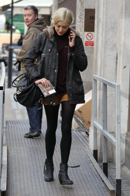 fearne-cotton-brown-mini-shorts-black-ankle-boots