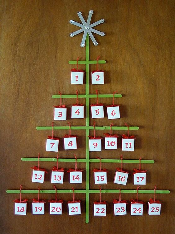 Popsicle stick advent calendar how-to
