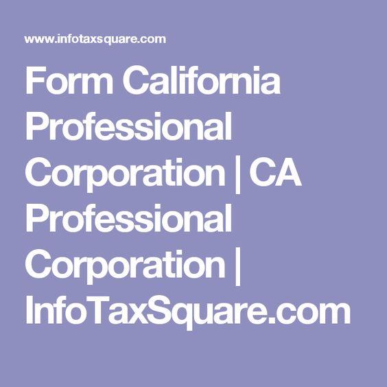 Form California Professional Corporation   CA Professional ...