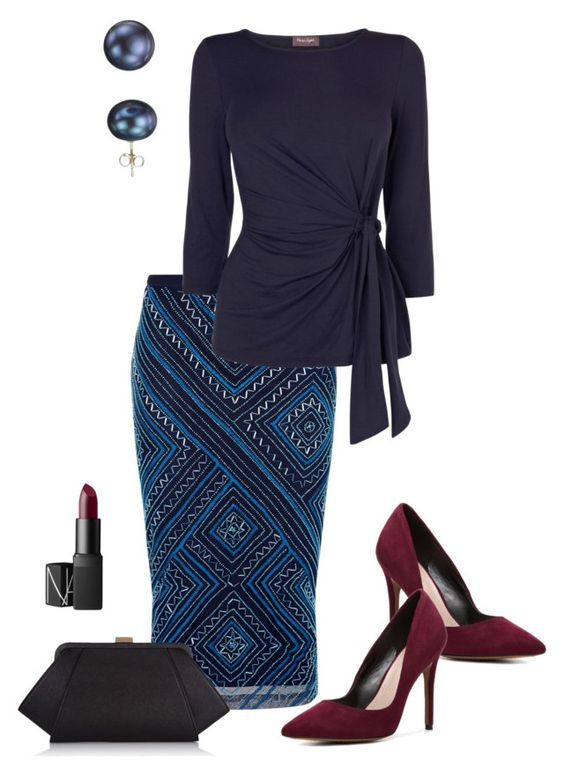 """Sin título #74"" by lavandar ❤ liked on Polyvore featuring Monsoon, Phase Eight, Charles by Charles David, ZAC Zac Posen, NARS Cosmetics and A B Davis"