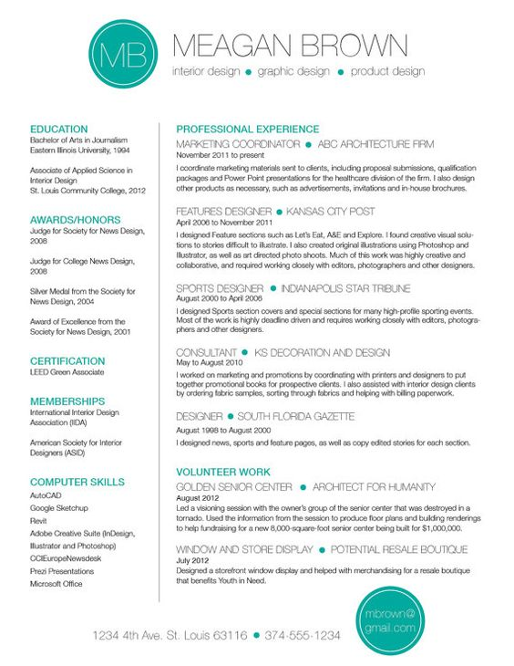 resume and cover letter template - cv template - word document