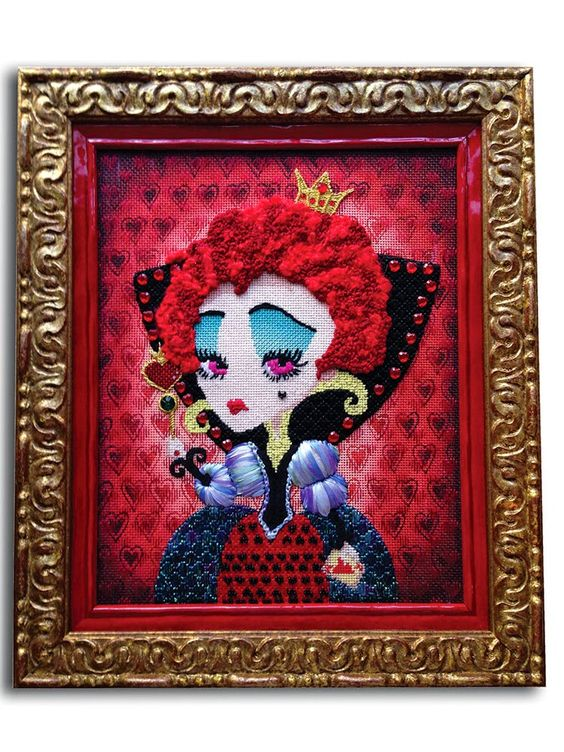 It's not your Grandmother's Needlepoint: The Queen has Arrived!