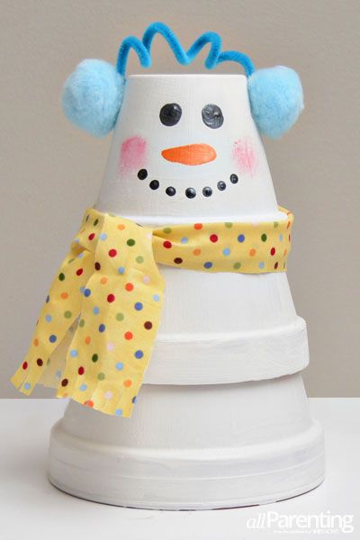 Stacked pots, Snowman and Pots on Pinterest