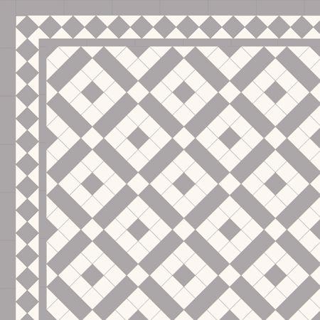 Pattern Using 2 X Tiles London Mosaic Victorian Tile