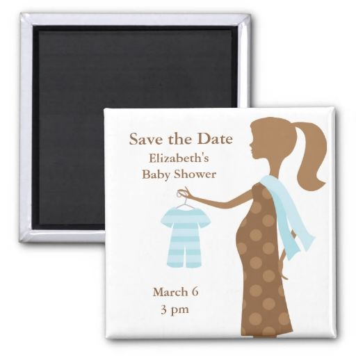 Chic Mom To Be Baby Shower Save the Date Magnets Refrigerator Magnet