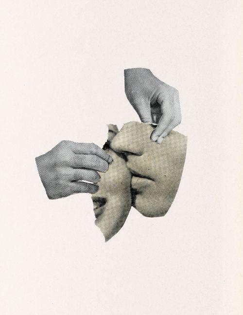 Richard Vergez nos muestra la belleza del minimalismo en sus especiales collages.