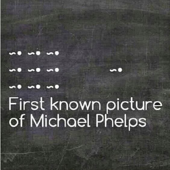 Too funny not to post.....first picture of Michael Phelps.