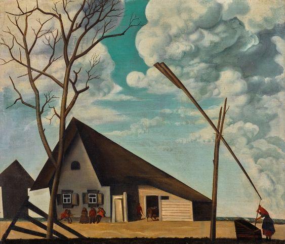 """Russian Landscape"" by Vasily Shukhaev, 1922"