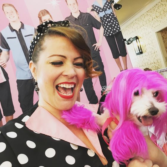 Love my neighbor Trixie at Groom Expo Hershey! Come on down for some Retro Sylist Wear before we sell out! groomers, #doggroomers, #groomexpohershey, #petgroomers, #
