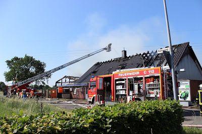 Wiesmoor-info: Großbrand vernichtet Werkstatt und Wohnhaus