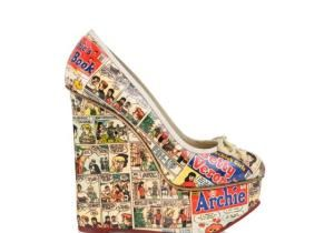 The London-based shoe designer has created a new line of shoes and accessories featuring imagery from the famous Archie Comics series.