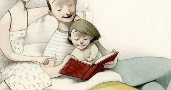 Acuesta A Tus Hijos Leyendo Un Libro No Viendo La Television Libros Para Leer Leer Imagenes Para Papa