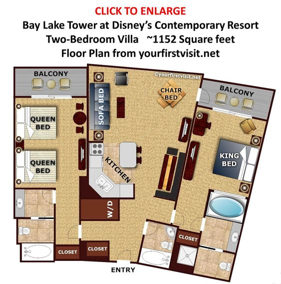 Review bay lake tower at disney s contemporary resort - 2 bedroom villas near disney world ...