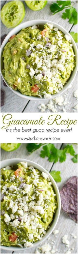 The Best Guacamole Recipe Ever. It's a must have recipe for Cinco de Mayo! | www.stuckonsweet.com