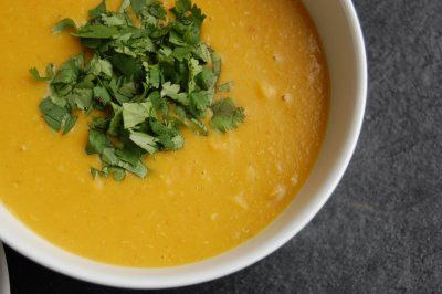 spicy lentil and pumpkinsoup